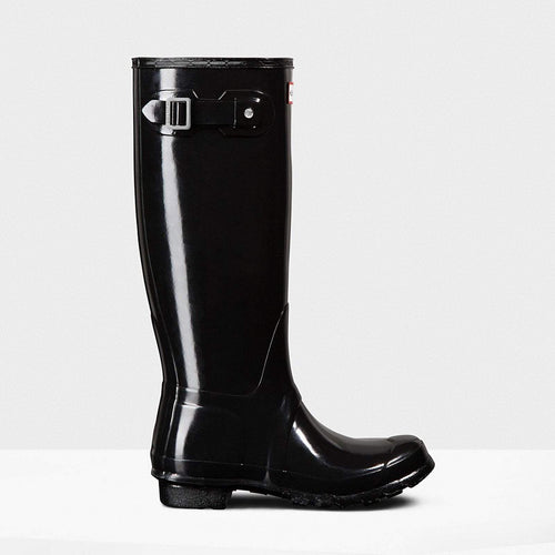 Women's Original Tall Gloss Wellington Boots Black