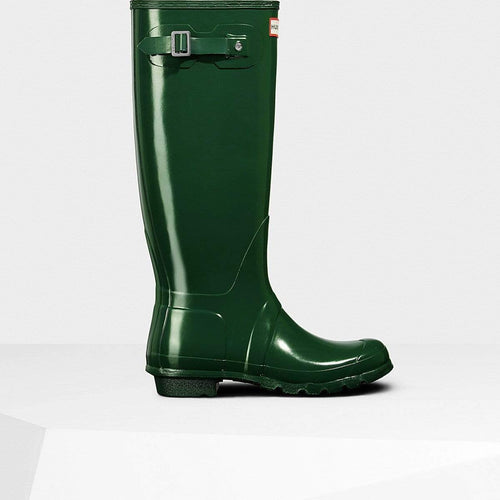 Women's Original Tall Gloss Wellington Boots Hunter Green
