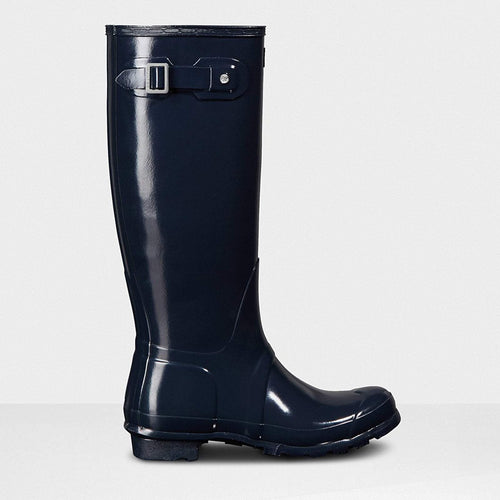Women's Original Tall Gloss Wellington Boots Navy