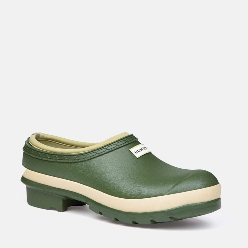 Hunter Footwear Womens Field Gardener Clog Vintage Green