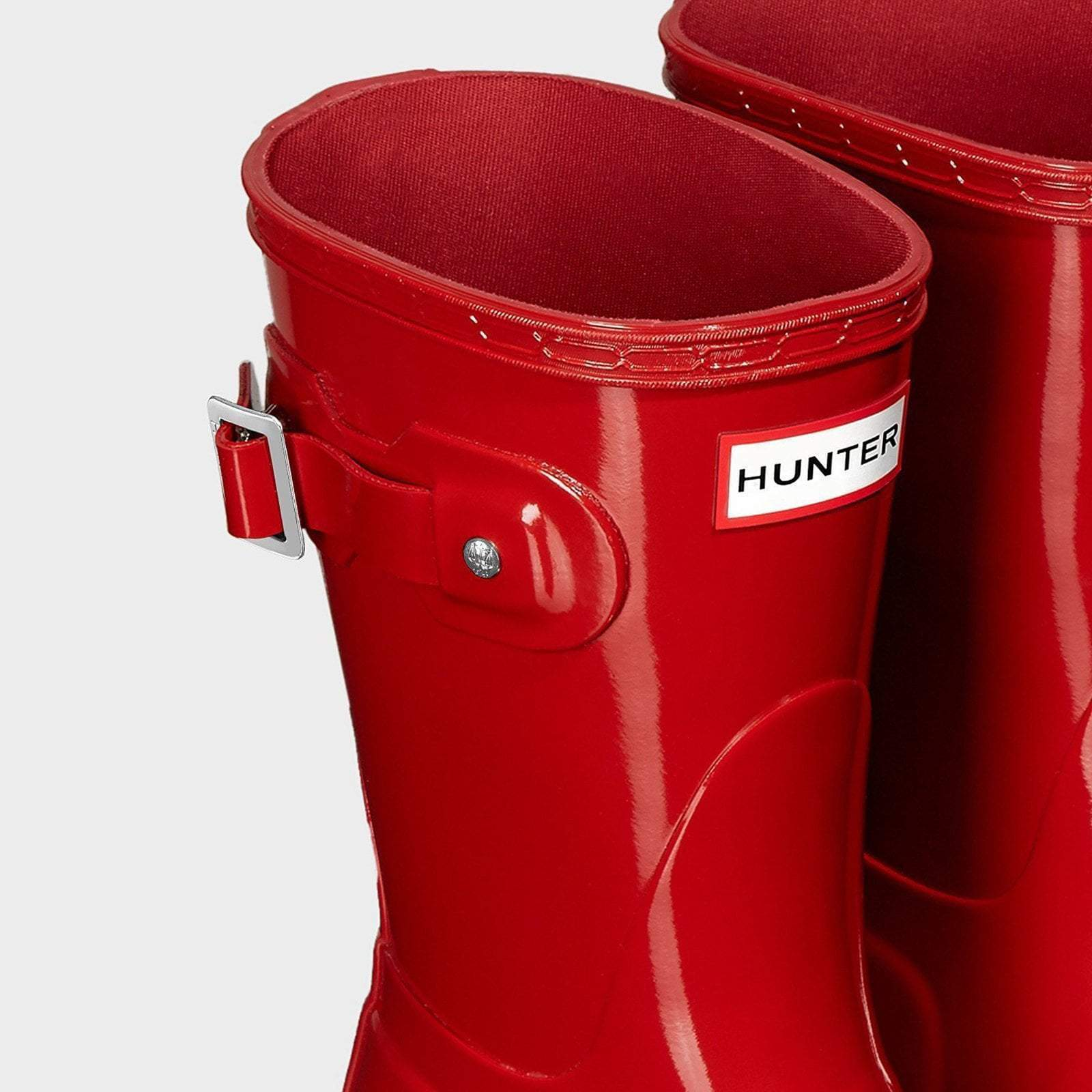 Hunter Welly Women's Original Short Gloss Wellington Boots Military Red