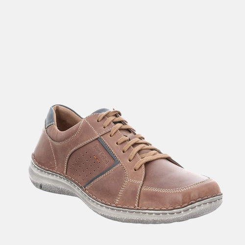 Anvers 59 Castagne Kombi - Josef Seibel Brown Tan Leather  Casual Shoes