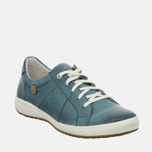 Caren 01 Azur - Josef Seibel Blue Ladies Trainers