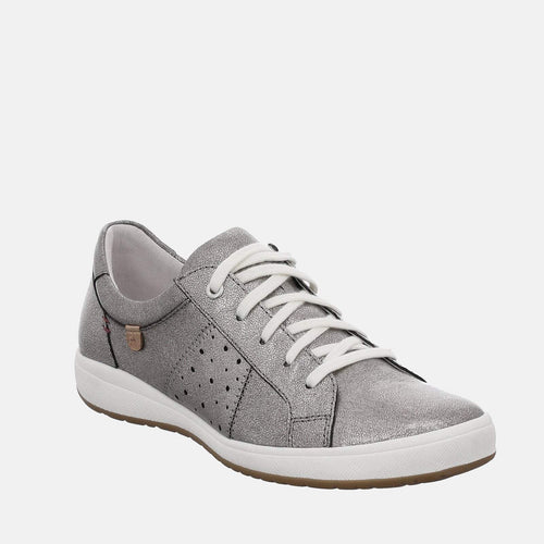Caren 01 Platin - Josef Seibel Grey/Silver Ladies Trainers