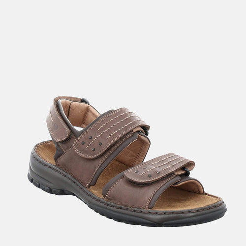 Firenze 01 Moro - Josef Seibel Brown Tan Leather Walking Sandals