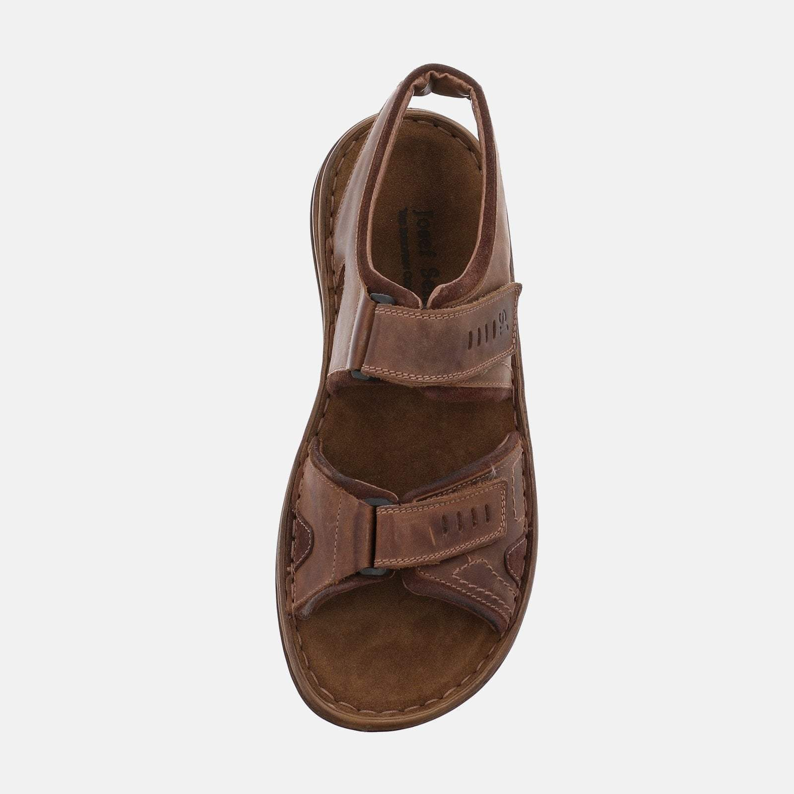 Josef Seibel Footwear Josef Seibel Raul 19 Castagne/Brasil  Brown Tan Leather Velcro Sandal