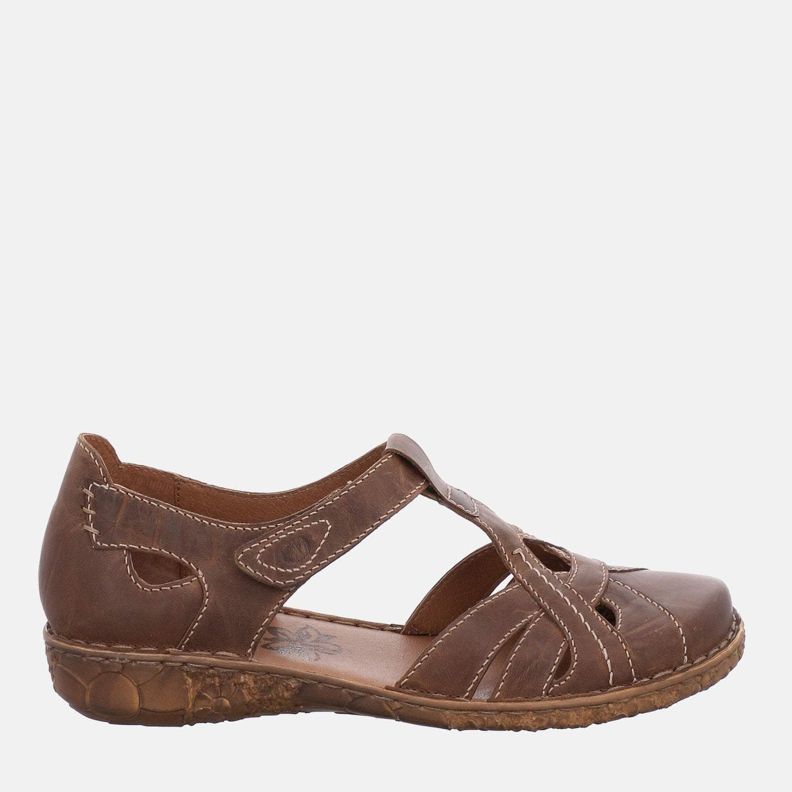 Josef Seibel Footwear Rosalie 29 Brandy - Josef Seibel  Brown Tan Leather Ladies Sandal