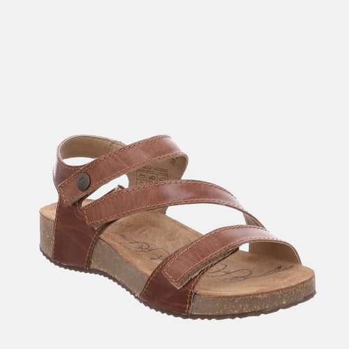 Tonga 25 Camel - Josef Seibel Brown Tan Leather Toe Post Ladies Sandal