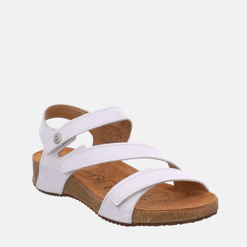 Tonga 25 Weiss - Josef Seibel  White Leather Toe Post Ladies Sandal
