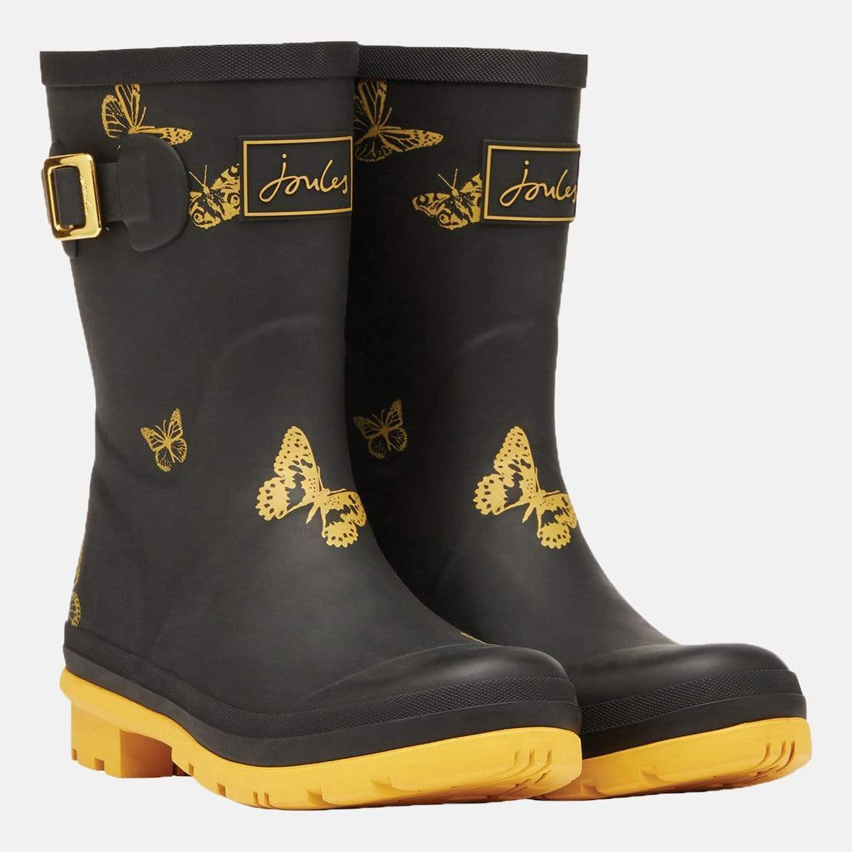 Joules Footwear Molly Welly Black Butterfly
