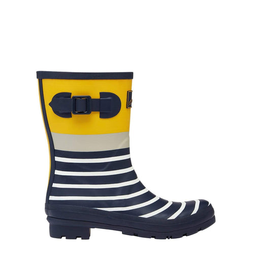 Molly Welly Navy Engineered Stripe