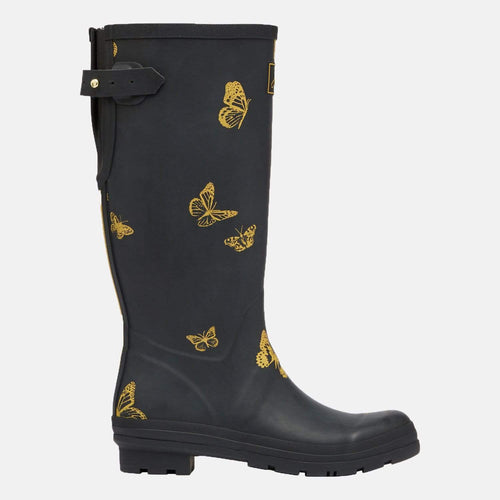 Welly Print Black Butterfly