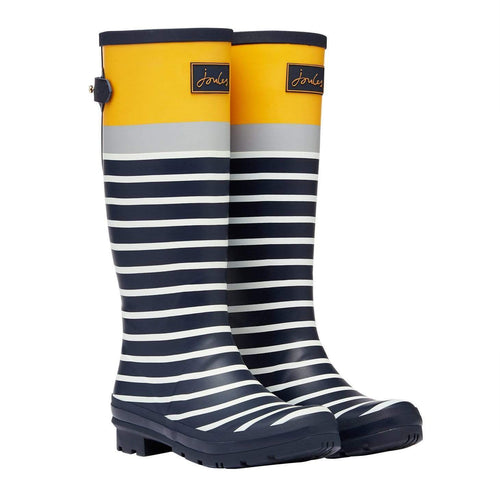 Welly Print Navy Engineered Stripe