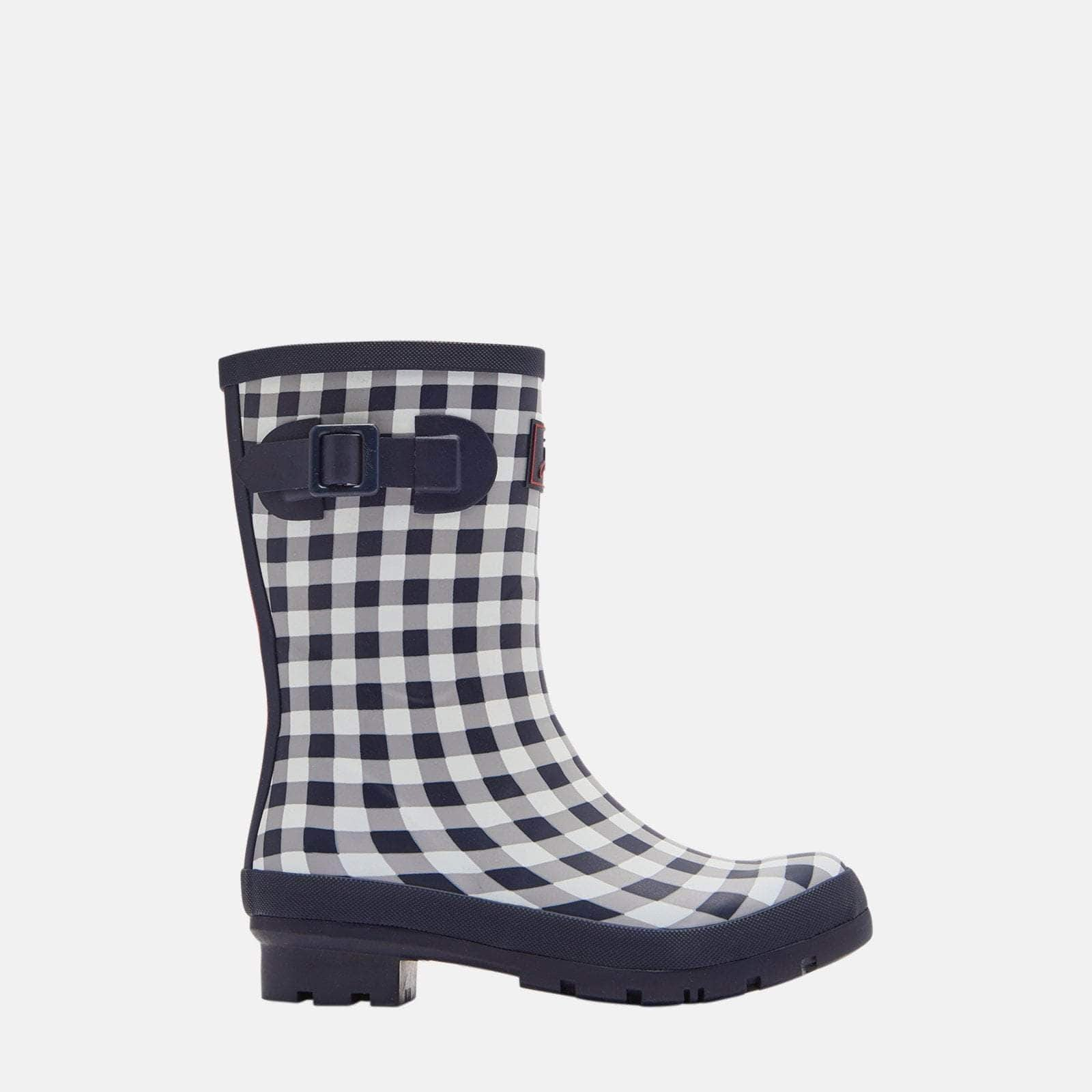 Joules Welly Molly Welly Navy Rose Gingham