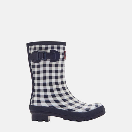 Molly Welly Navy Rose Gingham