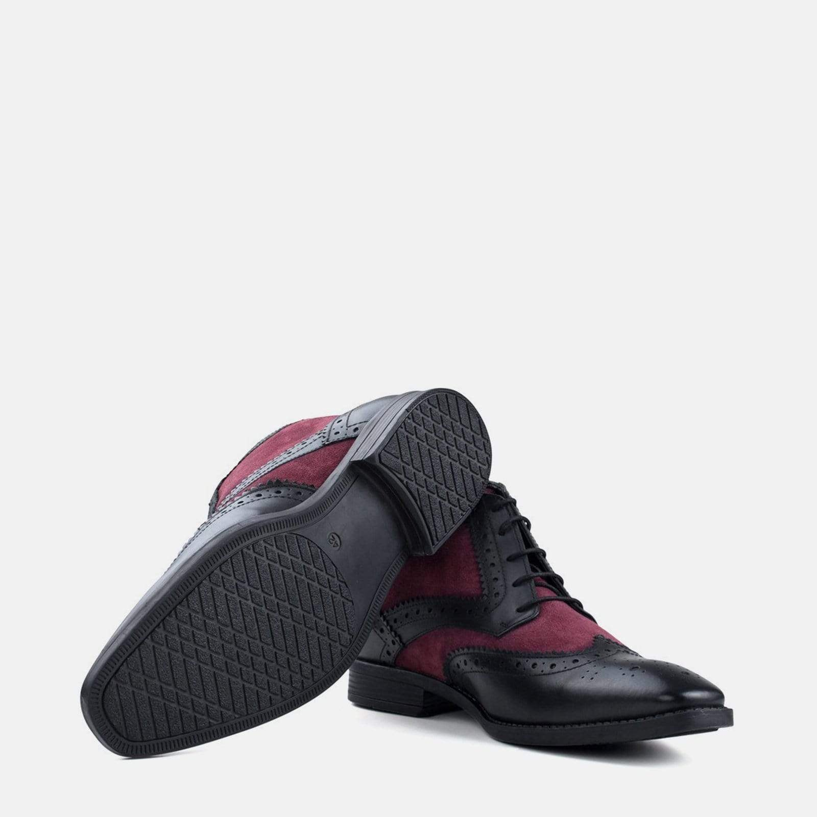 Redfoot Footwear ALFRED BLACK & BORDO