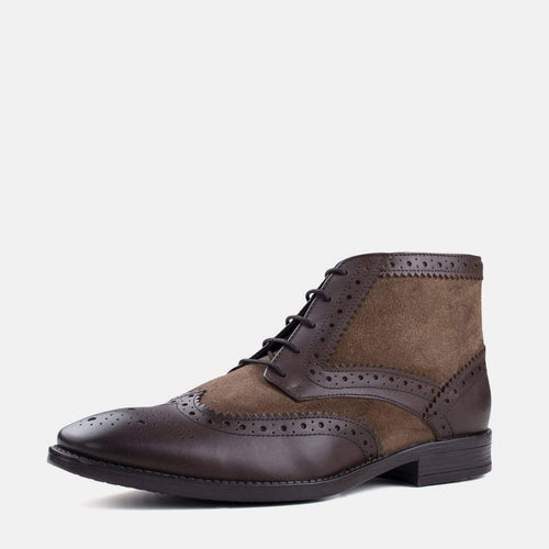 ALFRED STONE SUEDE LEATHER BROGUE BOOT