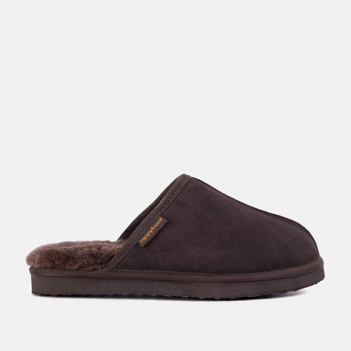 ALLEN (GB-CHOC) CHOCOLATE SHEEPSKIN SLIPPERS