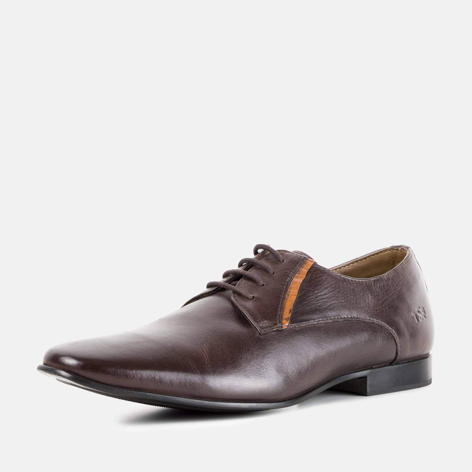 Redfoot Footwear BOND BROWN LEATHER DERBY SHOE