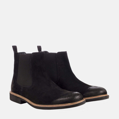 CLOUGH BLACK SUEDE CHELSEA BOOT