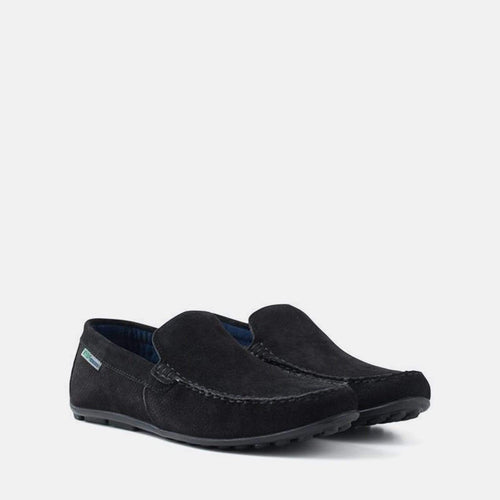 HANSA BLACK SUEDE LOAFER