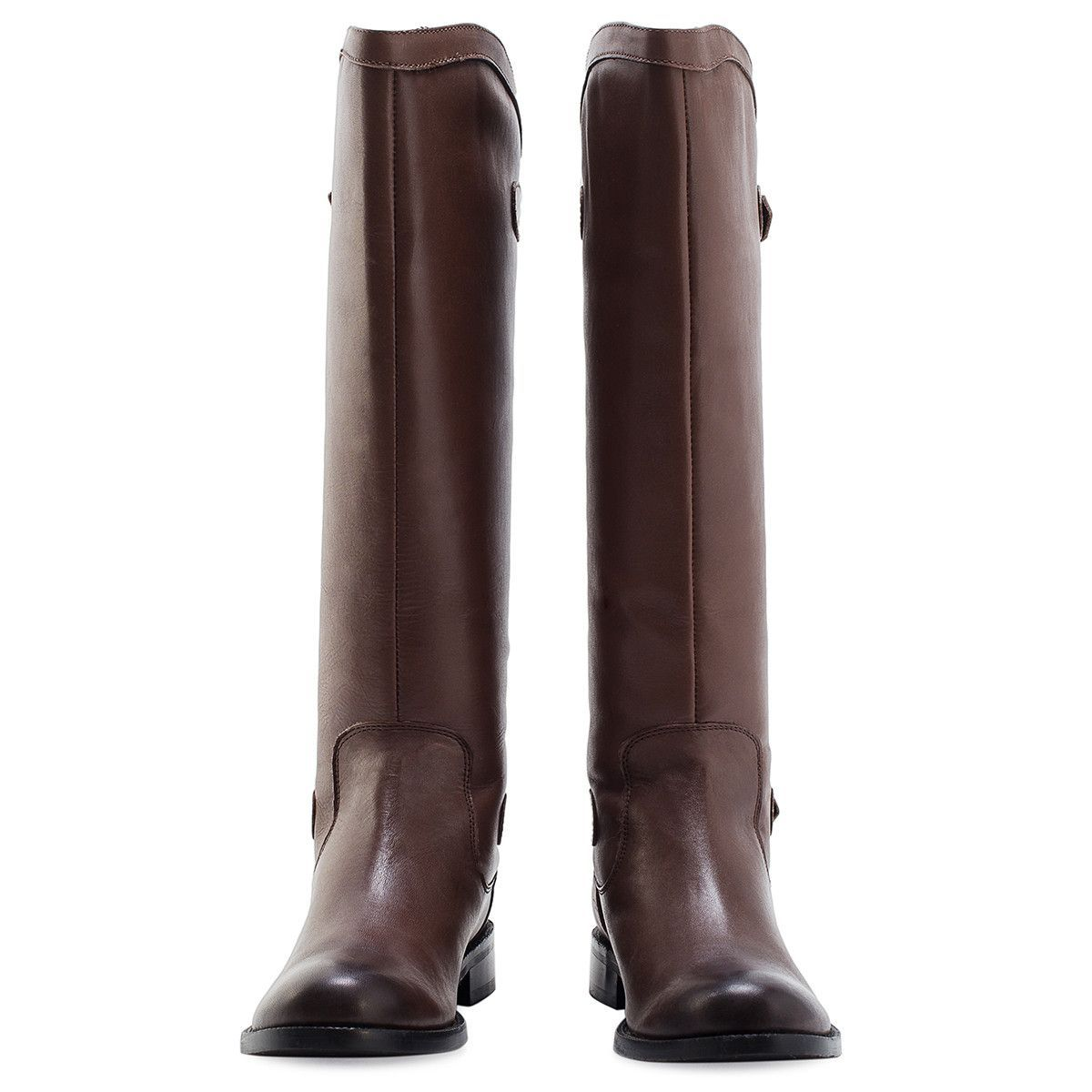 Redfoot Footwear UK 3 / EURO 36 / US 5 / Brown / Leather LADIES BROWN TWINZIP RIDING BOOT