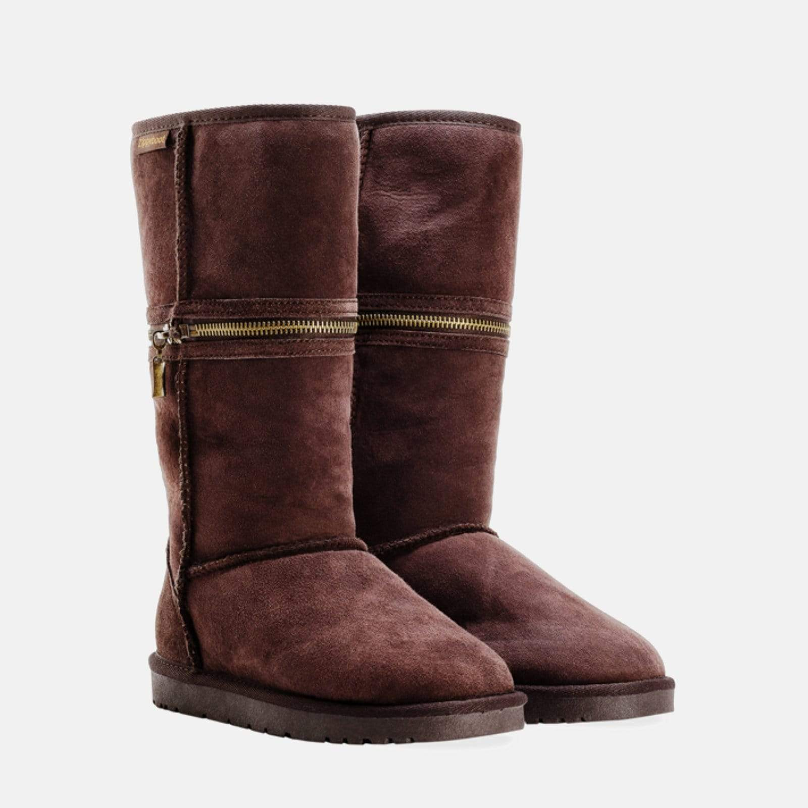 59c5298cc23 Lucy Chocolate (Ladies Sheepkin Boot) | Redfoot – Redfoot Shoes