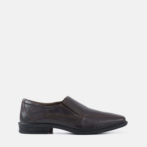 MAURICE BROWN LEATHER SLIP ON SHOE