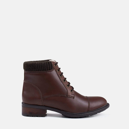MIKA BROWN LEATHER MILITARY BOOT