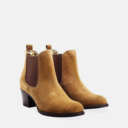 MOLLY CHESTNUT SUEDE CHELSEA BOOT