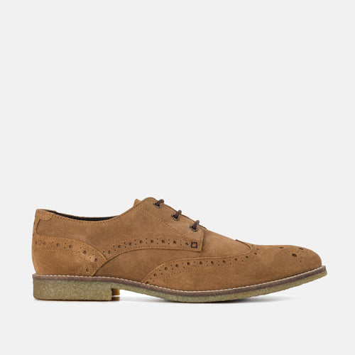 ROBINSON CHESTNUT SUEDE BROGUE