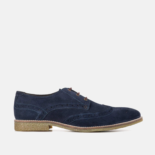 ROBINSON NAVY SUEDE BROGUE