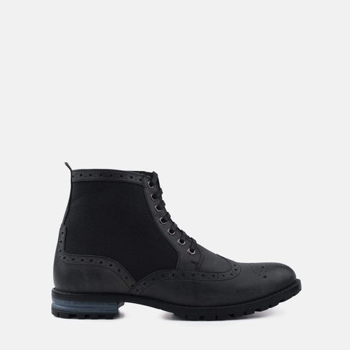 STARK BLACK LEATHER FASHION WORK BOOT