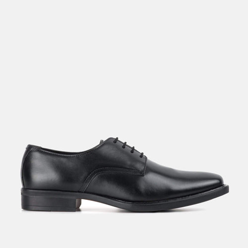 TAYLOR BLACK LEATHER DERBY SHOE