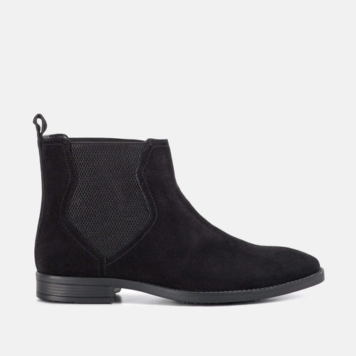 THOMAS BLACK SUEDE CHELSEA BOOT