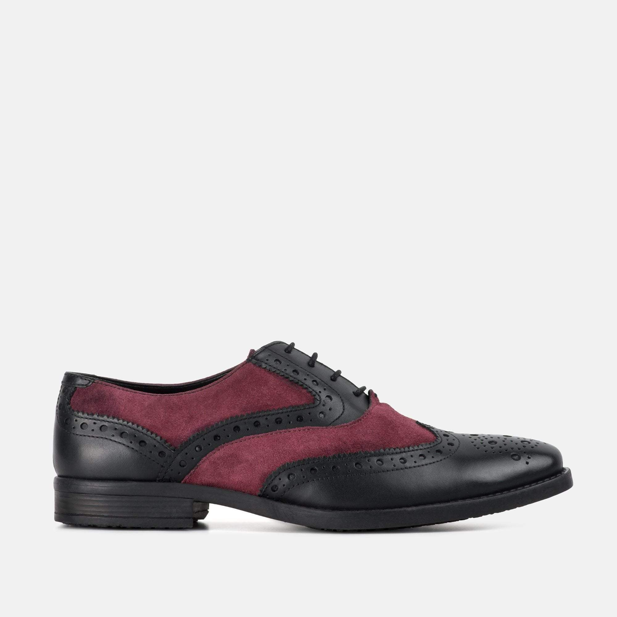 Redfoot Footwear UK 6 / EURO 39 / US 7 / Black/Bordo / Leather THOMPSON BLACK & BORDO
