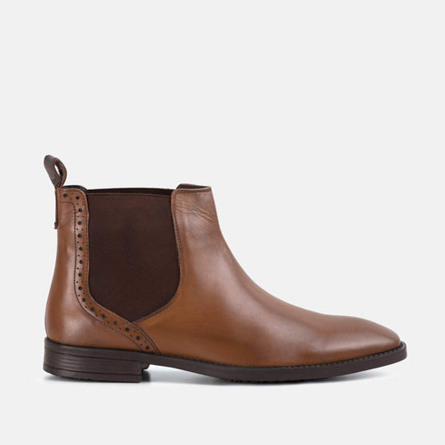 WALKER TAN LEATHER CHELSEA BOOT