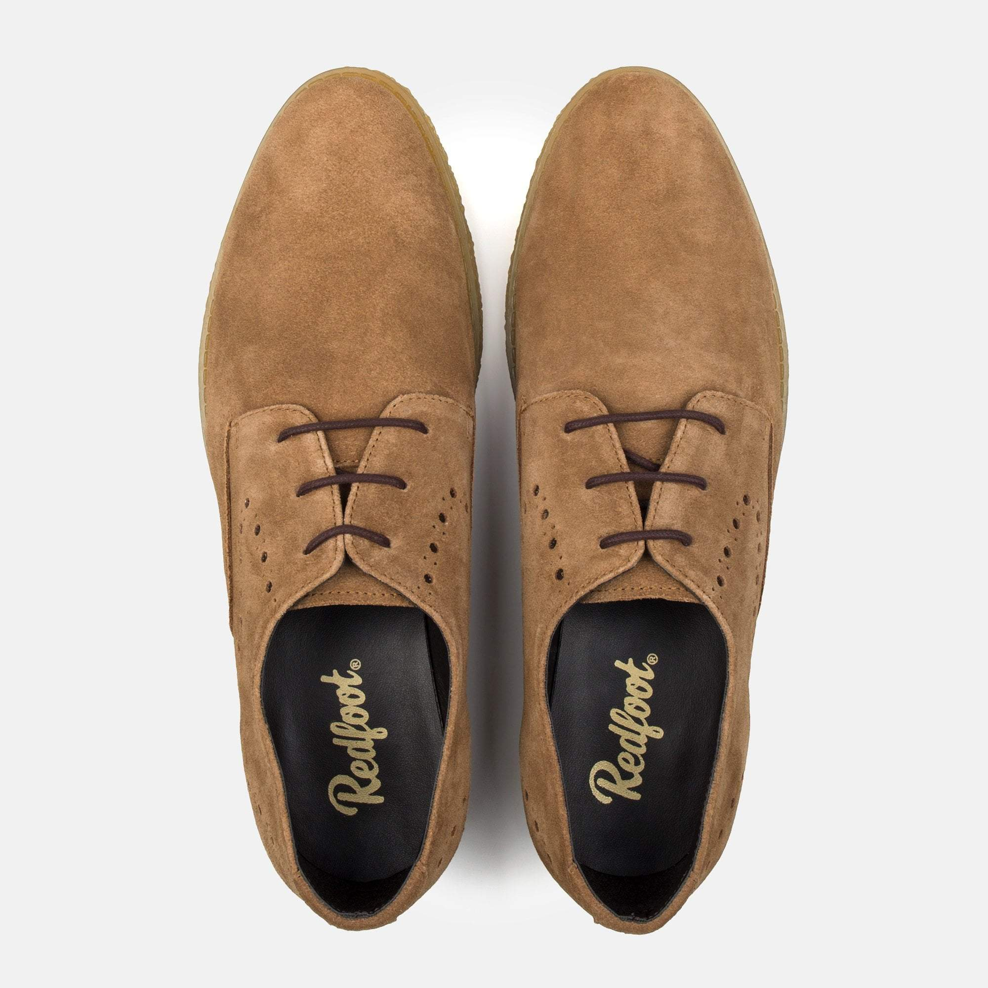 WILSON CHESTNUT SUEDE BROGUE