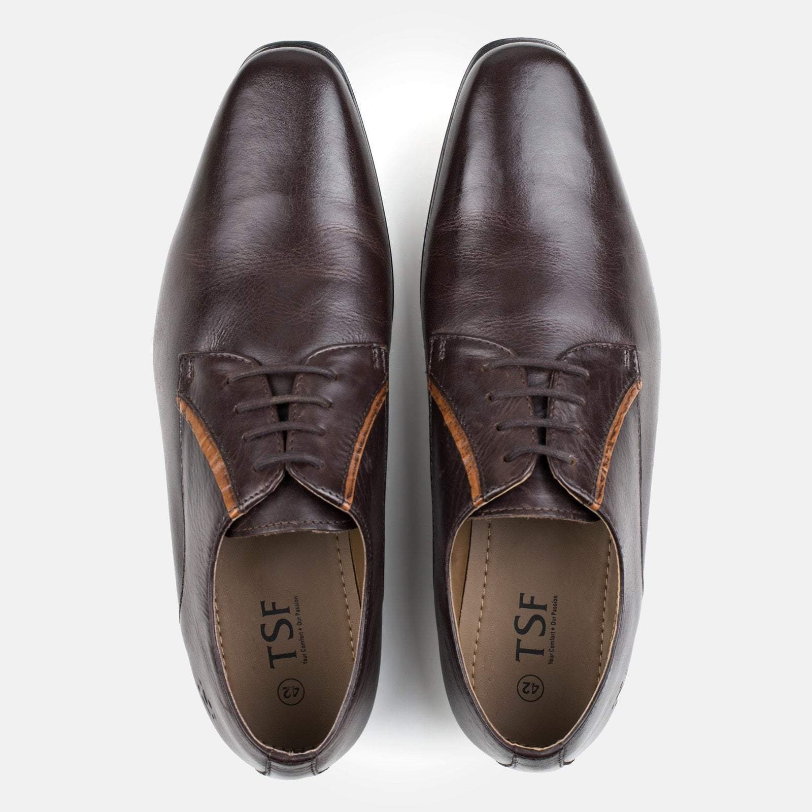 BOND BROWN LEATHER DERBY SHOE