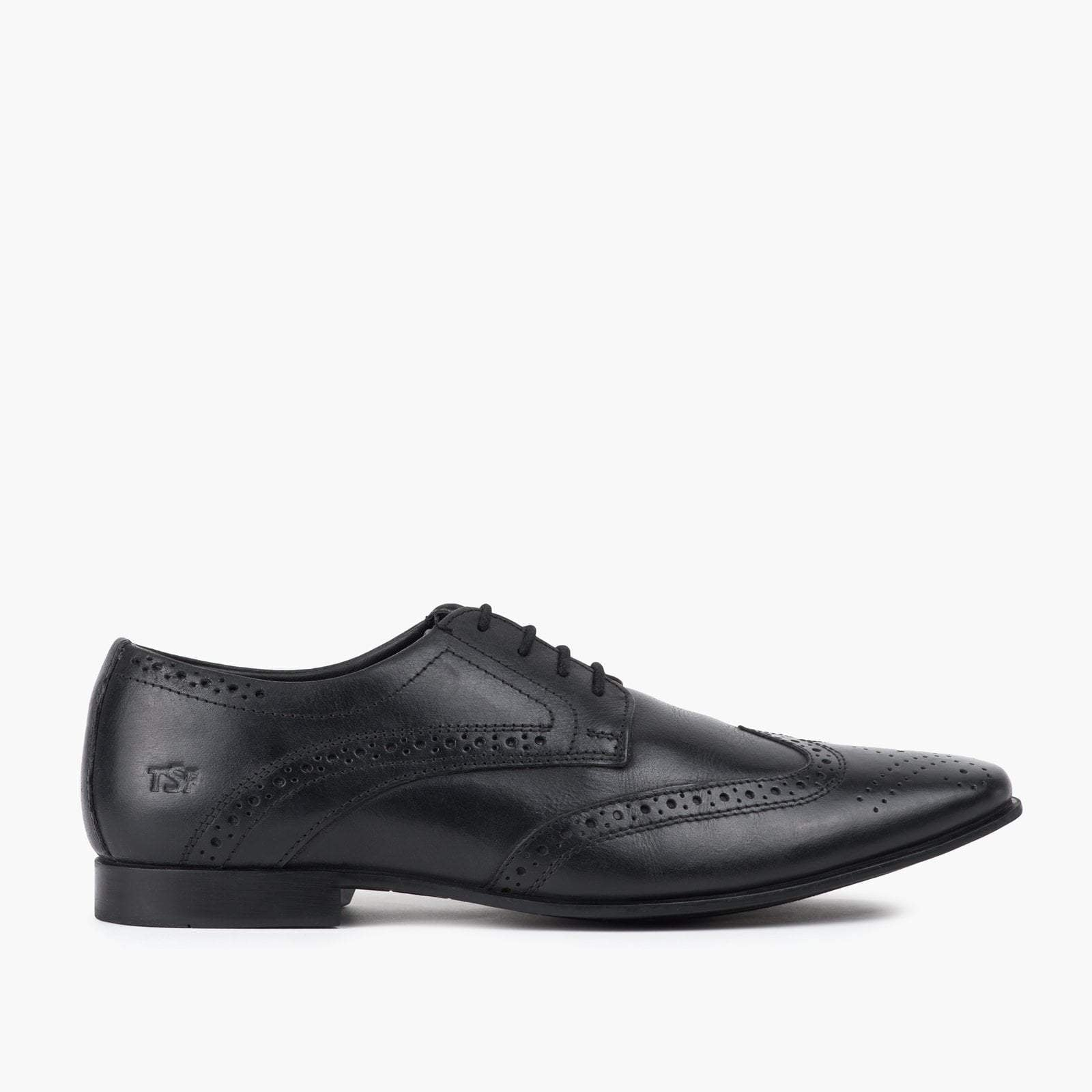 Redfoot Shoes Footwear UK 6 / EURO 39 / US 7 / Black / Leather MENS DERBY BROGUE BLACK