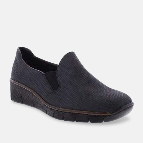 Rieker 53766-17 Ladies Blue Shoes