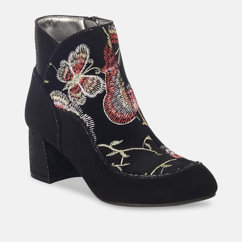 Karolina Black - Ladies Medium Heel Boot
