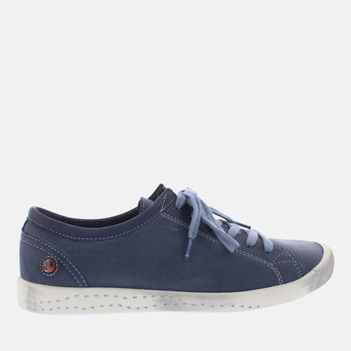 Isla Navy Washed Leather