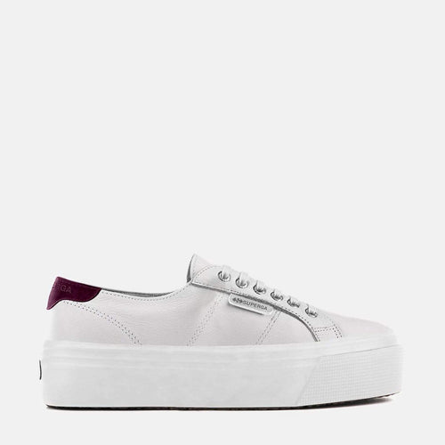 2790 Nappa Suede W White Red Cardinal