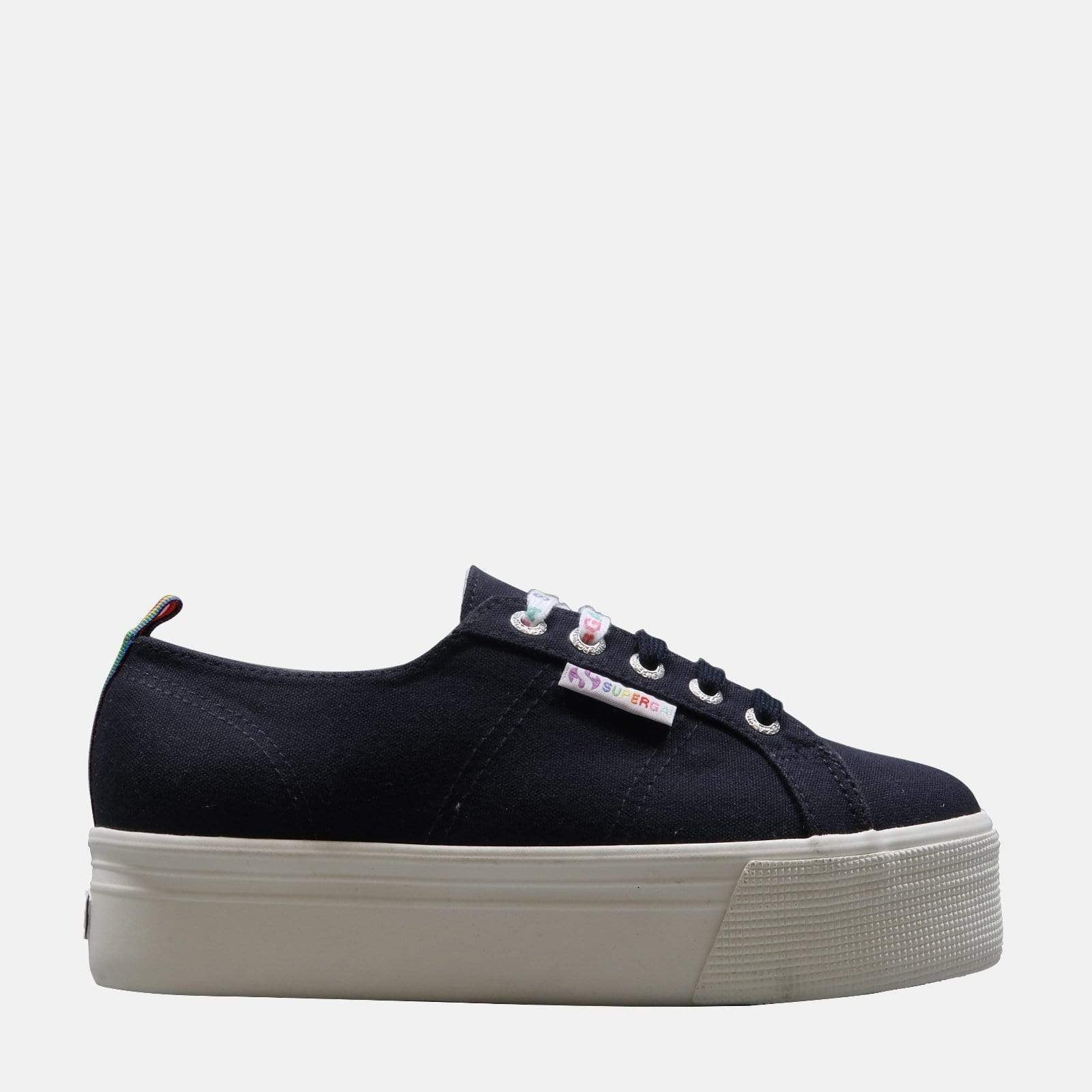 Superga Footwear 2790 Rainbow Pop Cot W Blue