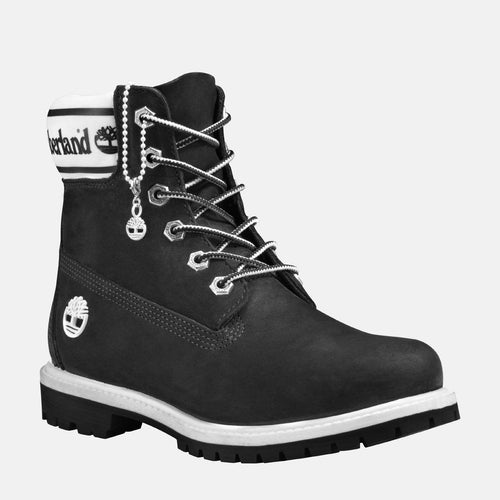 6in Premium Boot Logo Women's CA2314 Black Nubuck Logo