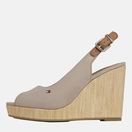 Elena Sling Back Wedge Stone