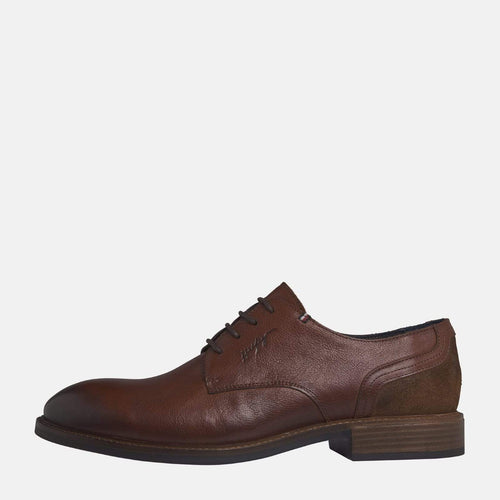 Elevated Leather Mix Shoe Brandy