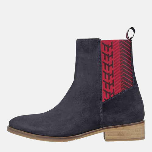 TH Monogram Flat Boot Desert Sky