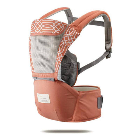 Porte Bebe Ergonomique  Orange Blanc 0-36 Mois